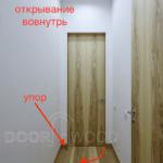 Шпонированные двери Скрытого Монтажа - Открывание вовнутрь.