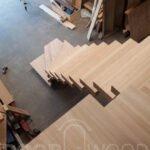 Деревянные ступени из ясеня