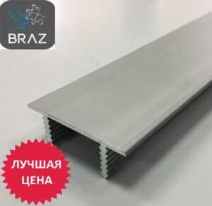 Торцевой алюминиевый профиль для дверного полотна из ДСП или МДФ