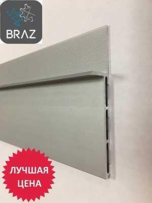 Плинтус алюминиевый скрытого монтажа 80мм
