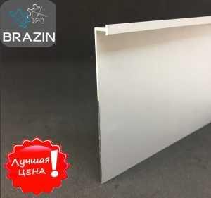 Плинтус алюминиевый накладной Г-образный 103мм