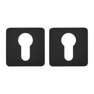 Дверная накладка под ключ M&T Minimal 087703 47x47 Cr-K брашированный черный (53195)
