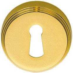 Дверная накладка под прорезь Colombo Design CD 1003 BB полированная латунь (Piuma) (4722)