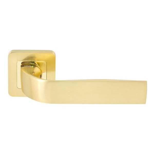 Дверная ручка RDA Sens полированная латунь/матовая латунь (34763)