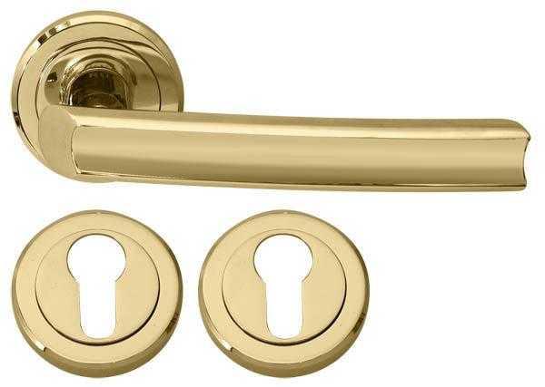 Дверная ручка RDA Verona с накладками под ключ титановое золото (14857)