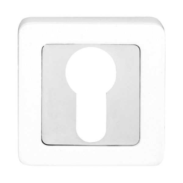 Накладка COMIT Moderno под ключ, хром/белый (49242)