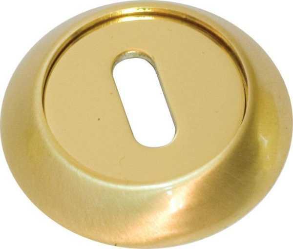 Накладка дверная под прорезь RDA Etro R-59 полированная латунь/матовая латунь (sale) (25332)