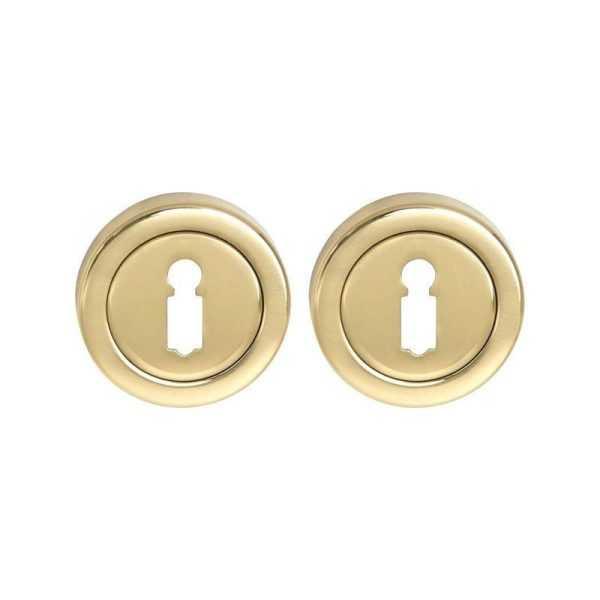 Накладка дверная под сувальдный ключ Fimet 2031 F01 полированная латунь (3059)