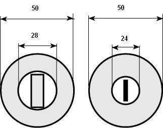 Накладка дверная WC RDA Eco plus RD 69 BZG G хром (26892)