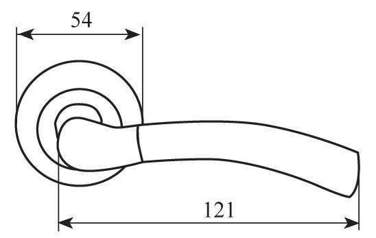 dvernaya ruchka firenze luxury capri matovyy nikel nikel r f z 33117 602f0359a085b