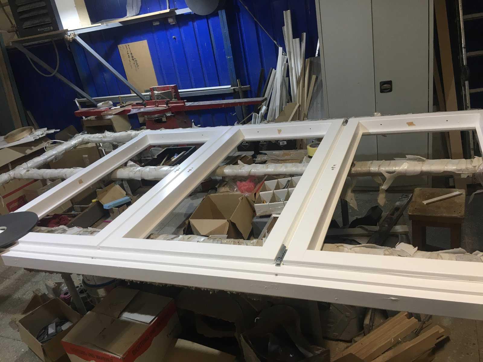 Сборка окна установка стеклопакетов
