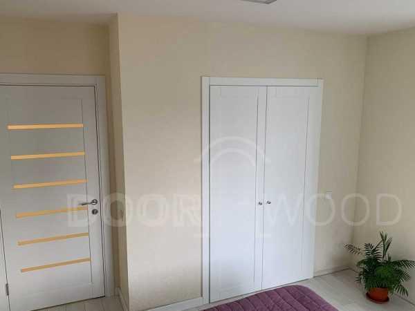 Двустворчатая дверь гардеробная комната