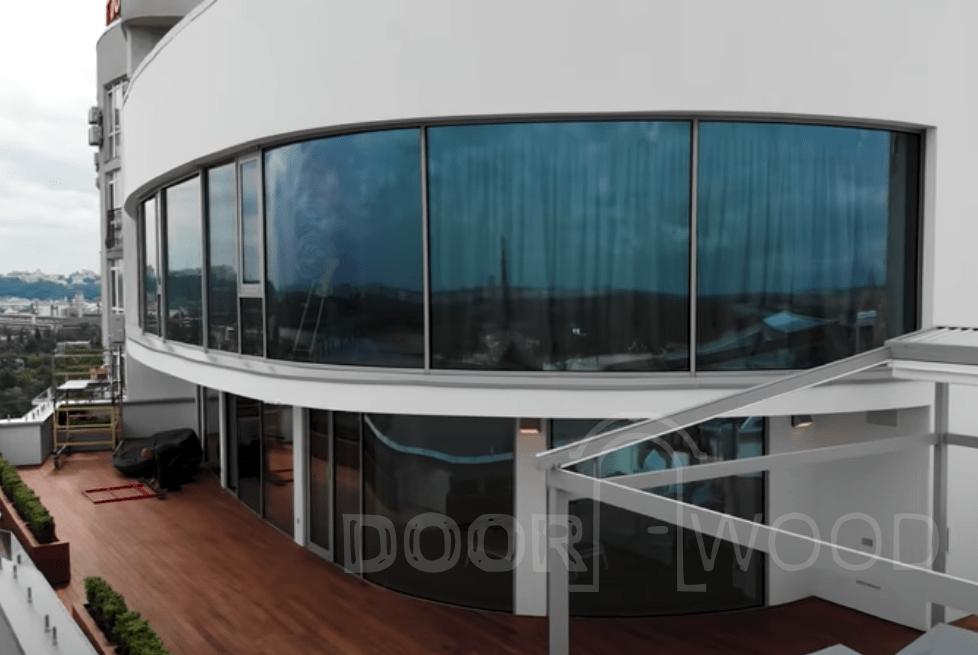 Гнутые панорамные стеклопакеты