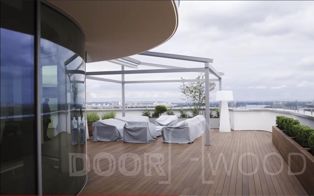Терраса радиусные панорамные окна